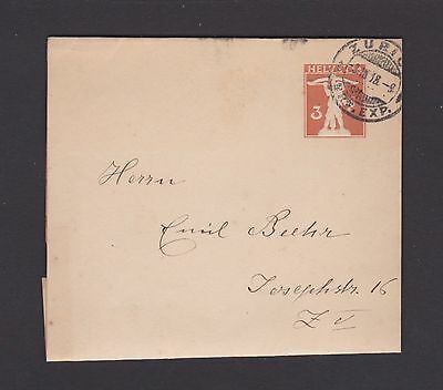Prepaid early wrapper Switzerland used 1918