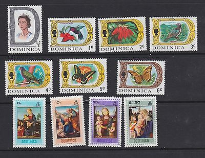 Stamps Dominica 1969 MNH selection