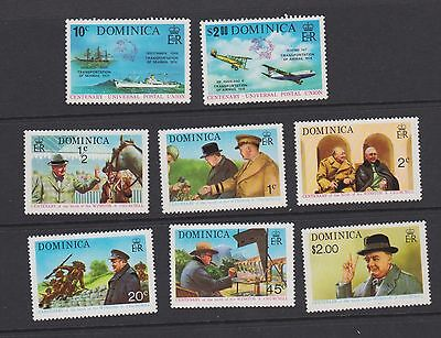 Stamps Dominica 1974 MNH selection