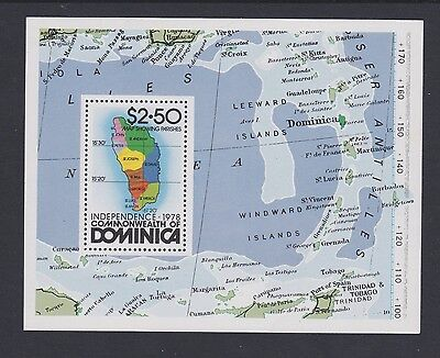 Stamps Dominica 1978 MNH minisheet Independence
