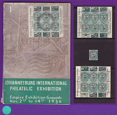 SOUTH AFRICA: 1936 ½d JIPEX CATALOGUE + 2 Sheetlets MNH + Trial/Forgery SCARCE!!