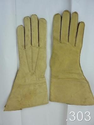 WWII British Military Army Despatch Rider's Motorcycle Leather Gloves Gauntlets