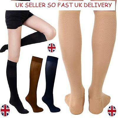 Unisex Anti-Fatigue Knee High Stockings Nylon Compression Support Socks Uk
