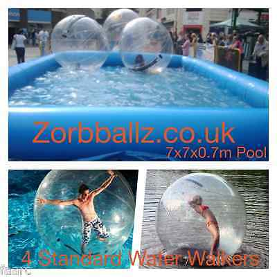 water walkers and pool, water ball and tank, water walking, water zorb,
