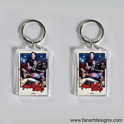 Ash Vs Evil Dead - Bruce Campbell - Lucy Lawless - Photo Keychain #2