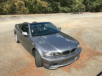 2006 BMW 3-Series Base Convertible 2-Door 2006 BMW 330Ci Base Convertible 2-Door 3.0L silver navigation black leather @