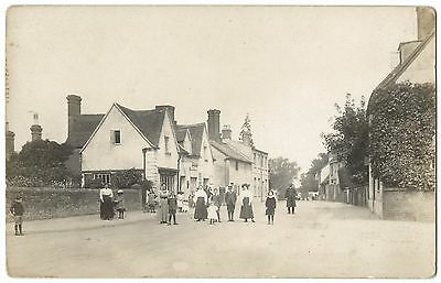 Unidentified Edwardian Animated Street Scene RP PC Unposted, Cook Stores to Left