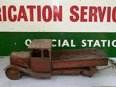 Collectable vintage 1920s metal tin Toy Truck Barn Find Restoration