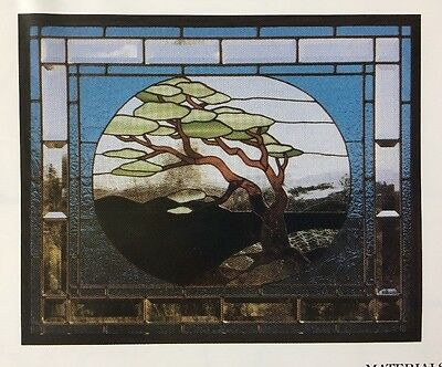 """Judy Miller Stained Glass Pattern Cypress Tree HT-24 Full Size 24x30"""" Panel"""