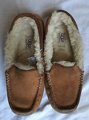 Ladies Ansley Ugg Tan Slippers Size 37 4.5