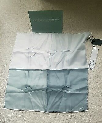 Bnwt Lanvin Four Colour Silk Pocket Square