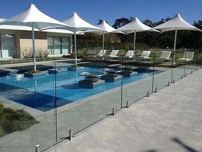 12mm, Frameless Toughened Glass, Pool Fencing 1800mm X 1200mm X 12mm