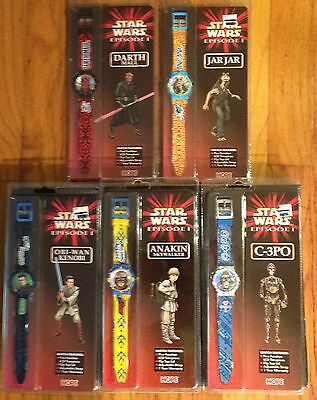 Lot of 5 Star Wars Watches, Episode 1