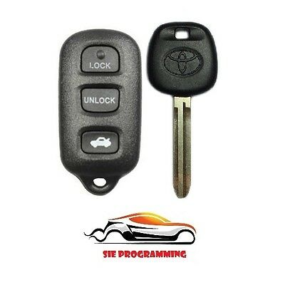 New Replacement Entry Remote Key Car Fob Trunk & 4C Chip Key Toyota GQ43VT14T