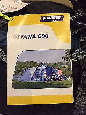 *superb* Outwell Ottawa 600 6 Person Tent-Fully Integral Groundsheet Not Vango