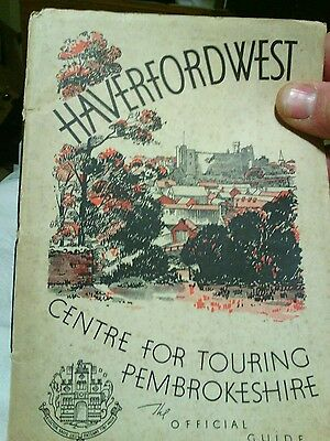 Haverfordwest official guide possibly 1920s/1930s