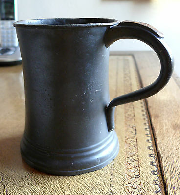 antique pewter tankard Mid 19th century marked James Yates Pint