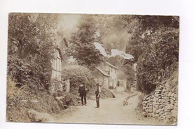 RP Unknown Country Lane Dry Stone Wall Tudor House Man Large Beard ! Where ?