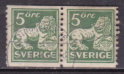 Sweden 1920 5ore Green Used Pair Cat £15