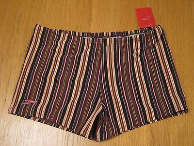 Speedo Mens striped boxer type swimming trunks, 38 ins/95cm,NEW with tags
