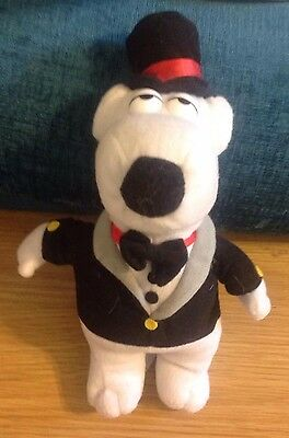 "Tuxedo Brian Plush Toy from Family Guy, 11"" High Unboxed"
