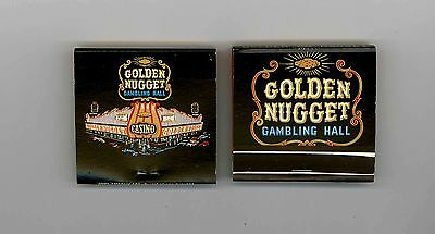 Golden Nugget Gambling Hall Vintage,matchbooks Las Vegas Nv New