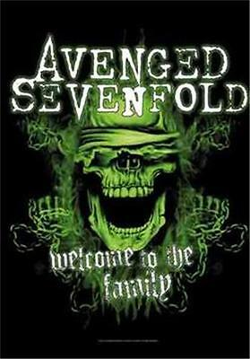 "AVENGED SEVENFOLD  Flag/ Tapestry/ Fabric Poster Welcome To The Family""  NEW"