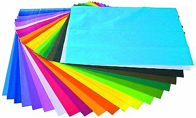 Spectra 20-Piece Paper Bleeding Tissue Assorted Colours Craft Making stationery