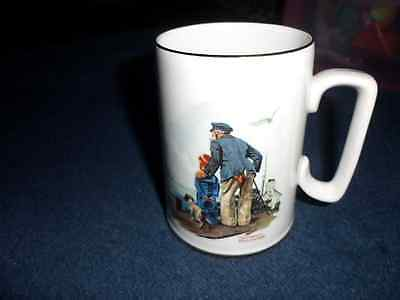 "Vintage 1985 Norman Rockwell ""Looking Out to Sea"" Coffee Mug Museum Collection"
