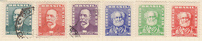 BRAZIL - 6 Stamps as shown - Hinged