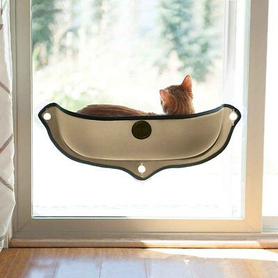 K&H Manufacturing EZ Mount Window Bed Kitty Sill, 27 x 11, Tan
