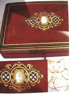 Antique French Game Box, Comes with Variety of Chip