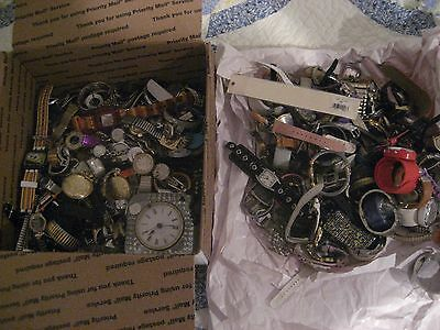 250  Plus Watch Lot Some  Watches Intact Some  Not, Non Have Been Battery Tested
