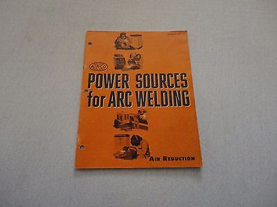 1960s AIRCO Catalog #1340 - Power Sources for ARC WELDING - Complete - 47 Pages