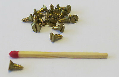 "200 Solid Brass Wood Countersunk Screws 1/4"" X 3#"