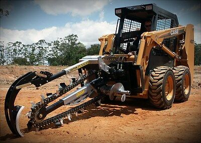 Hydrive Trencher suits Excavators and Skid Steers, Bobcat, ASV, Gehl etc