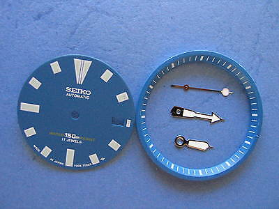 SEIKO DIVER 7002 Blue Dial Hands Minute Marker Ring SET NEW