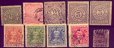 India :  Indian State: Cochin Anchal Old  Stamps   No Reserve