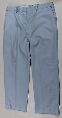 Dickies Vintage 1970s Blue Work Pants Slacks Trousers Retro light blue 36 x 30