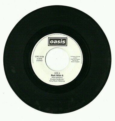 """Oasis - Roll With It 7""""vinyl JUKEBOX ONLY single CRE 212d (1995)"""