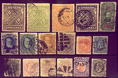 BRAZIL :  NICE COLLECTION of  VERY  OLD & VALUABLE  STAMPS   NO RESERVE