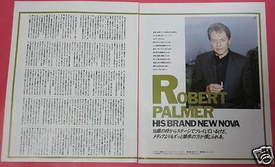 Robert Palmer 1988 Clipping Japan Magazine Pg 7A 3Page
