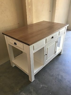 Providence Kitchen Bench White and Natural Oak