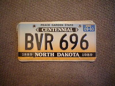 North Dakota Centennial     License Plate    Buy All States Here