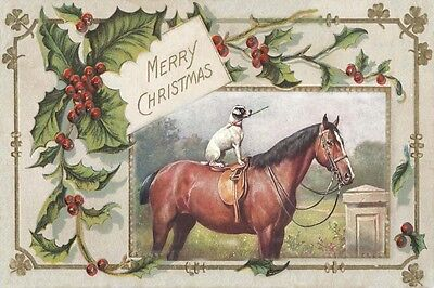 Jack Russell Terrier & Horse C. Reichert LARGE New Blank Christmas Note Cards 2
