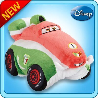Pillow Pets Authentic Disney-Cars 18 Francesco Bernoulli, Folding Plush Pillow-