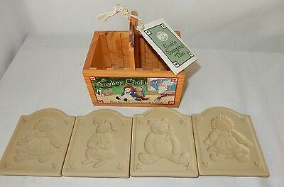 Brown Bag Cookie Art Toy Box Stamping Molds in Box with Instructions