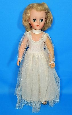 BEAUTIFUL 1950's IDEAL MISS REVLON DOLL VT-18 NICE FACE COLOR WEDDING GOWN