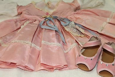 sweet sue doll dress and shoes vintage for  31 inch