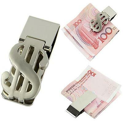 1 x Money Clip Dollar Sign Card Holder Slim Clamp Stainless Steel Wallet Purse J